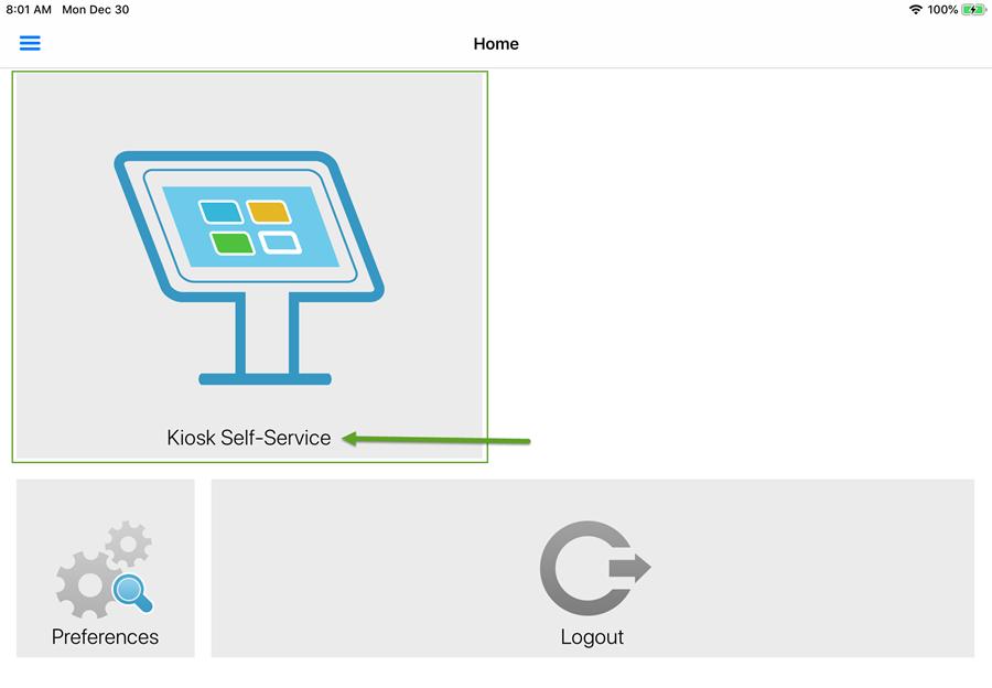 KioskVUE Self-Service link