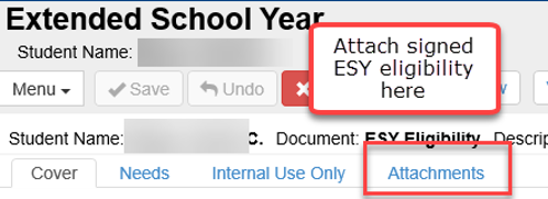 ESY - signed form attachment