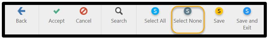 Make sure to click SELECT NONE