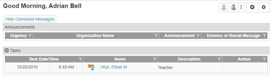 Transportation Request Task is added to Teacher's Tasks