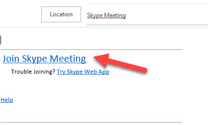 Click Join Skype Meeting